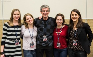Myself, Kathleen, Bora, Rose, and Lena at Scio13 Photo by Russ Creech